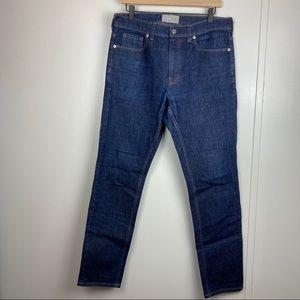 Everlane Blue Denim Mid Rise Skinny Jeans